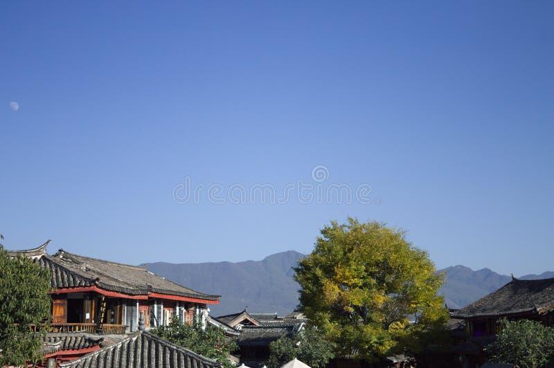 Oude Stad van Lijiang - Dakmening royalty-vrije stock afbeeldingen