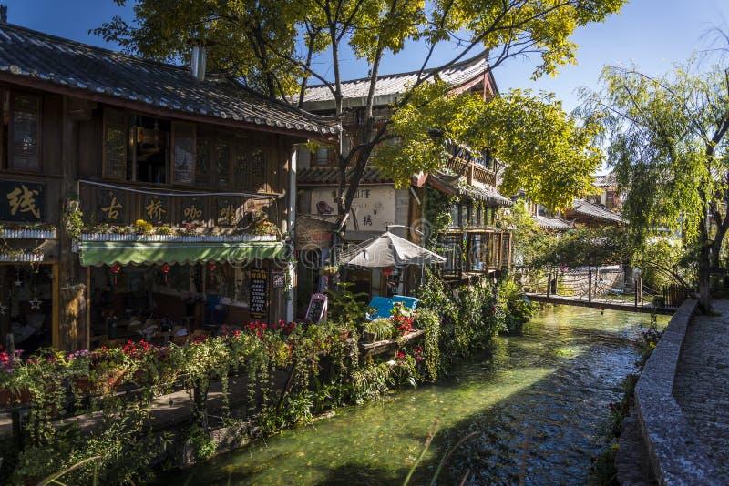 Oude Stad van Lijiang, historische stad, Yunnan-provincie, China stock foto