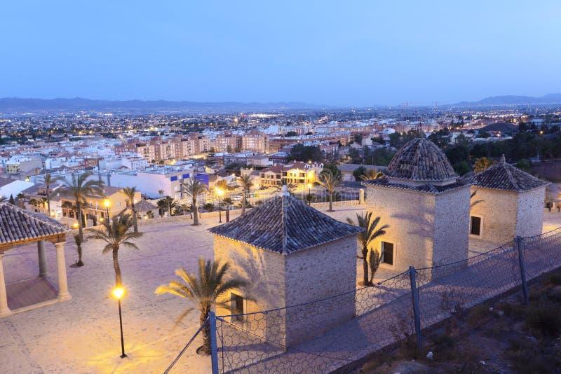 Oude stad van lorca bij schemer murcia spanje stock - Lorca murcia fotos ...