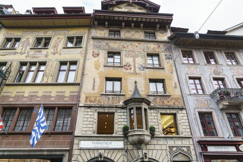 Oude stad van Luzerne in Zwitserland royalty-vrije stock fotografie