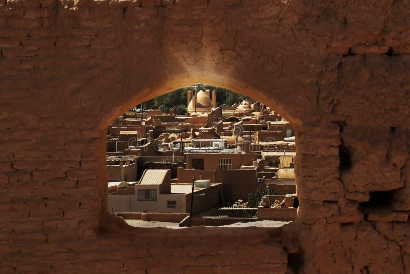 Oude stad van Maybod iran Bezit van oud Perzië royalty-vrije stock foto's