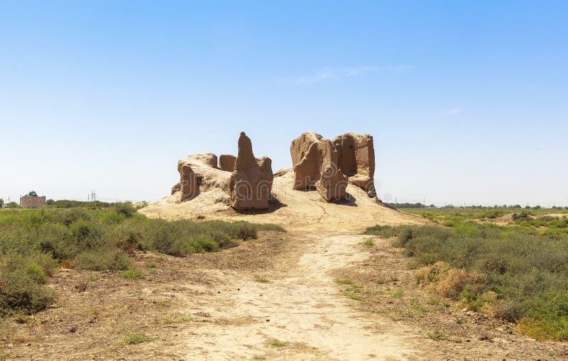 Oude stad van Merv in Turkmenistan royalty-vrije stock foto's