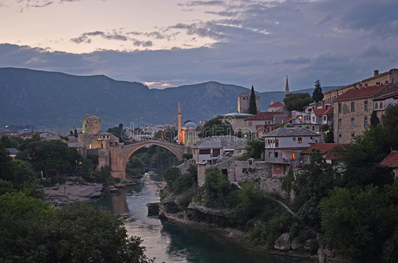 Oude stad van Mostar, Bosnië-Herzegovina, royalty-vrije stock afbeeldingen