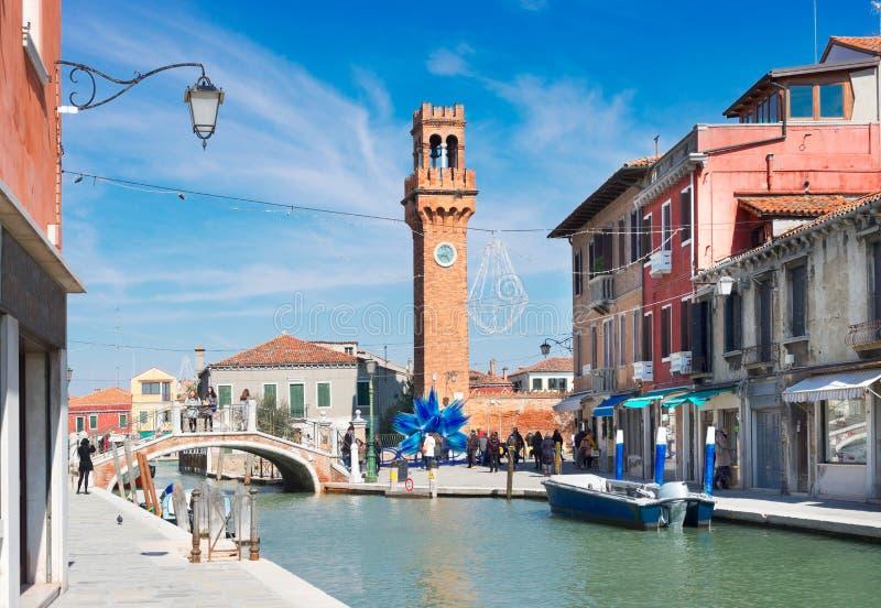 Oude stad van Murano, Italië stock foto's