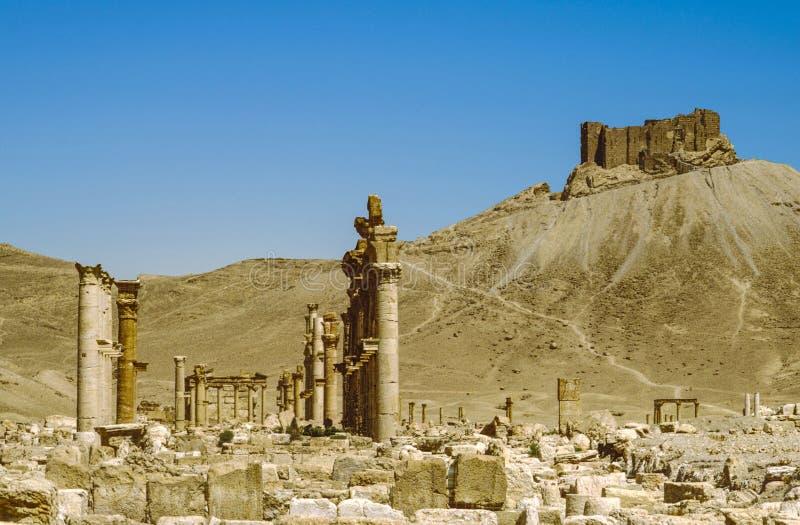 Oude stad van Palmyra stock afbeelding