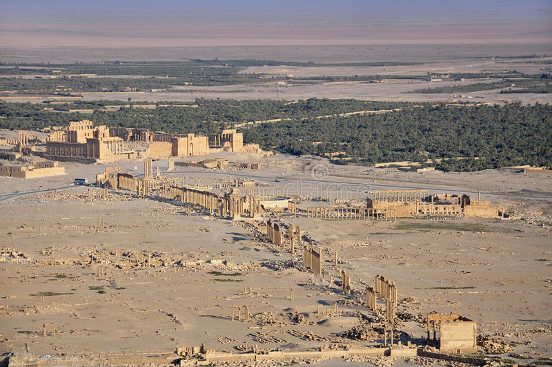 Oude stad van Palmyra stock foto