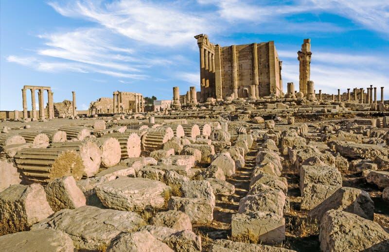 Oude stad van Palmyra royalty-vrije stock foto