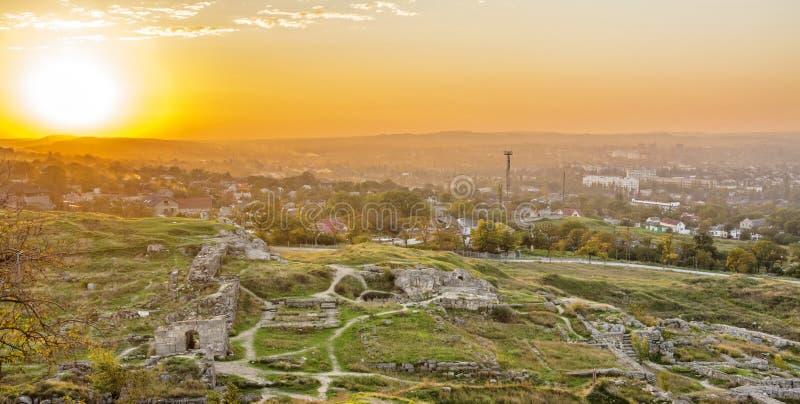 Oude stad van Panticapaeum stock foto