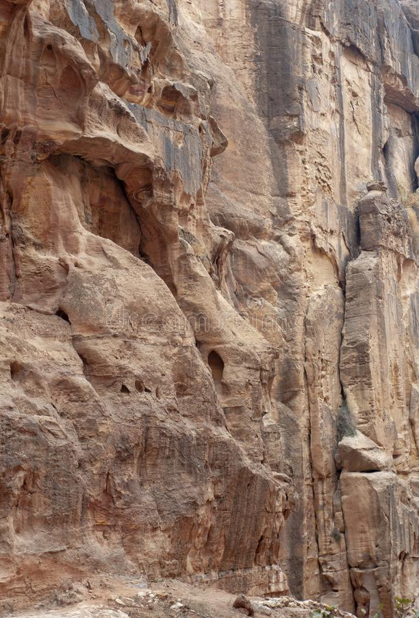 Oude Stad van Petra, Jordanië stock foto