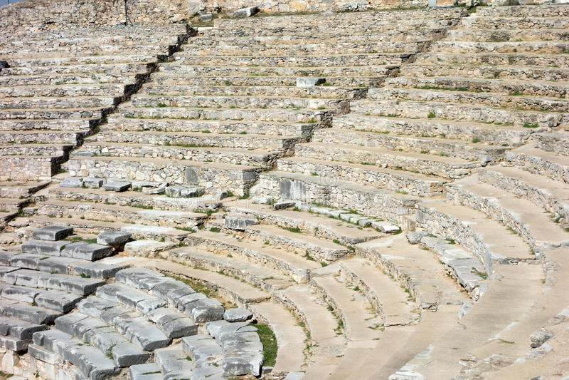 Oude stad van Philippi royalty-vrije stock afbeelding