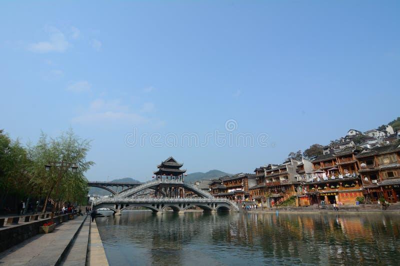 Oude Stad van Phoenix (de Oude Stad van Fenghuang) royalty-vrije stock fotografie