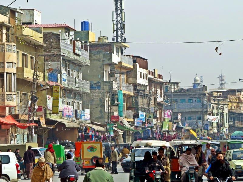 oude stad van Rawalpindi, Pakistan royalty-vrije stock fotografie