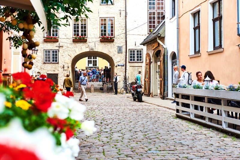 Oude stad van Riga Noordelijk Europa letland stock foto