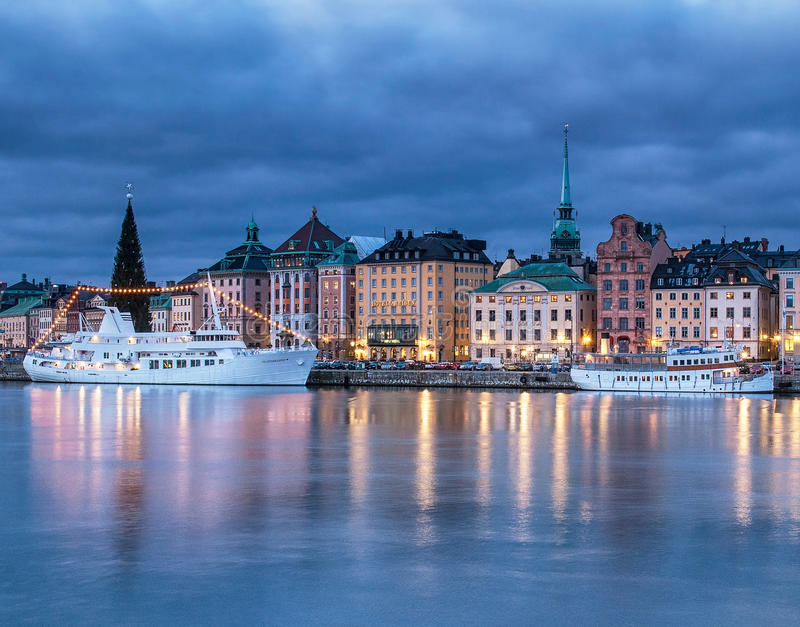 Oude Stad van Stockholm royalty-vrije stock foto