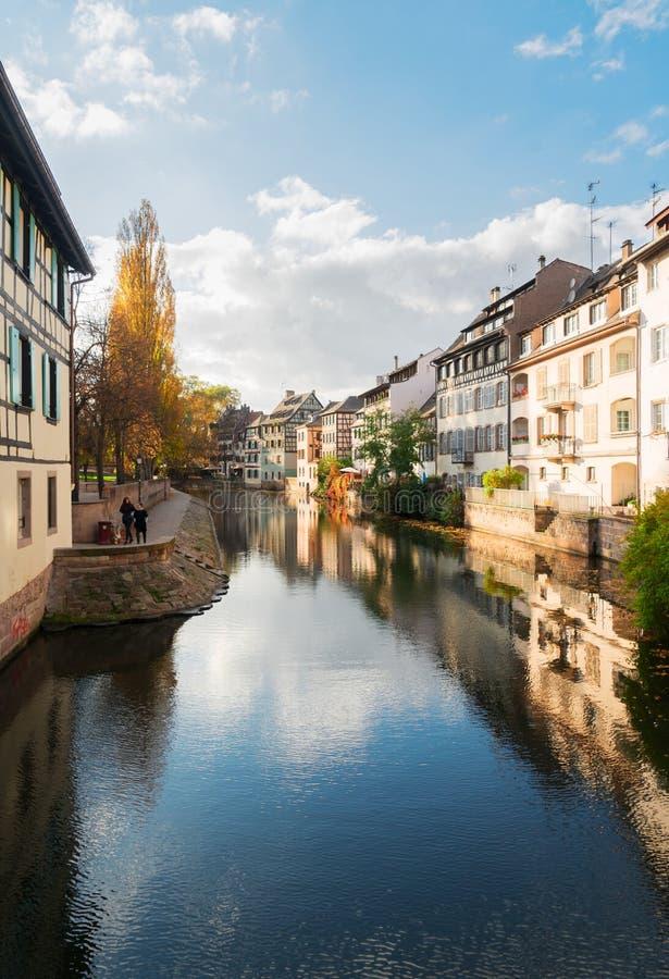 Oude stad van Straatsburg, Frankrijk stock afbeelding