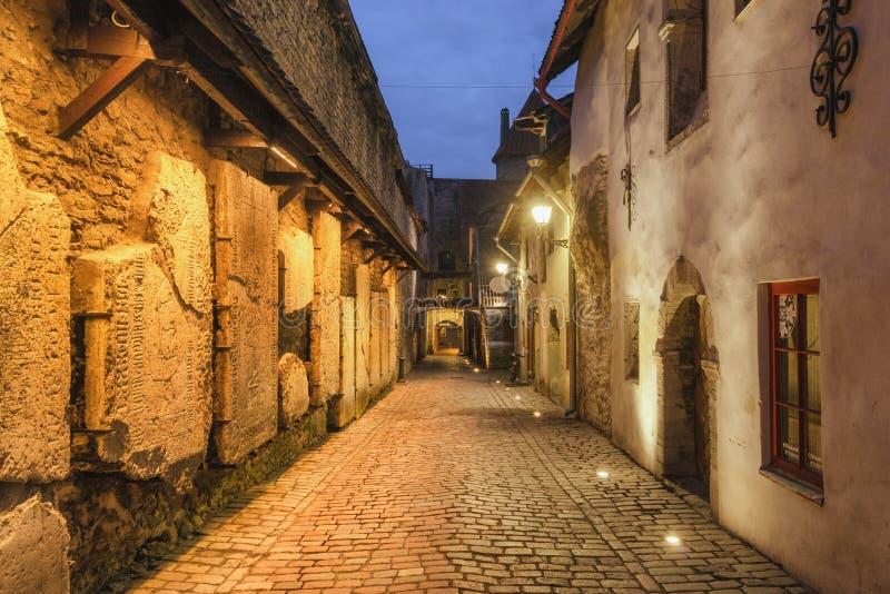Oude stad van Tallinn, Estland stock foto's