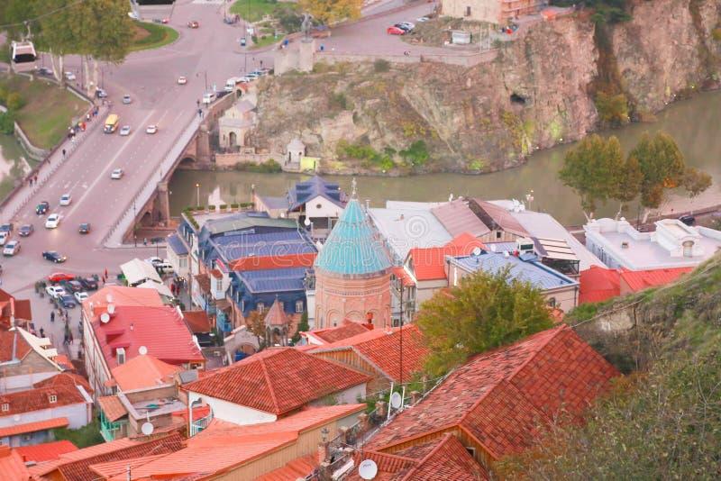 Oude Stad van Tbilisi royalty-vrije stock afbeelding