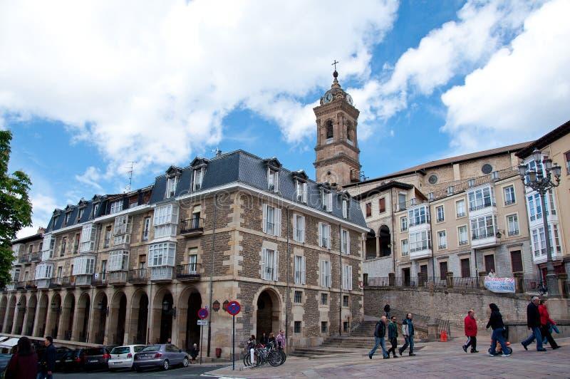 Oude stad van vitoria-Gasteiz royalty-vrije stock afbeeldingen