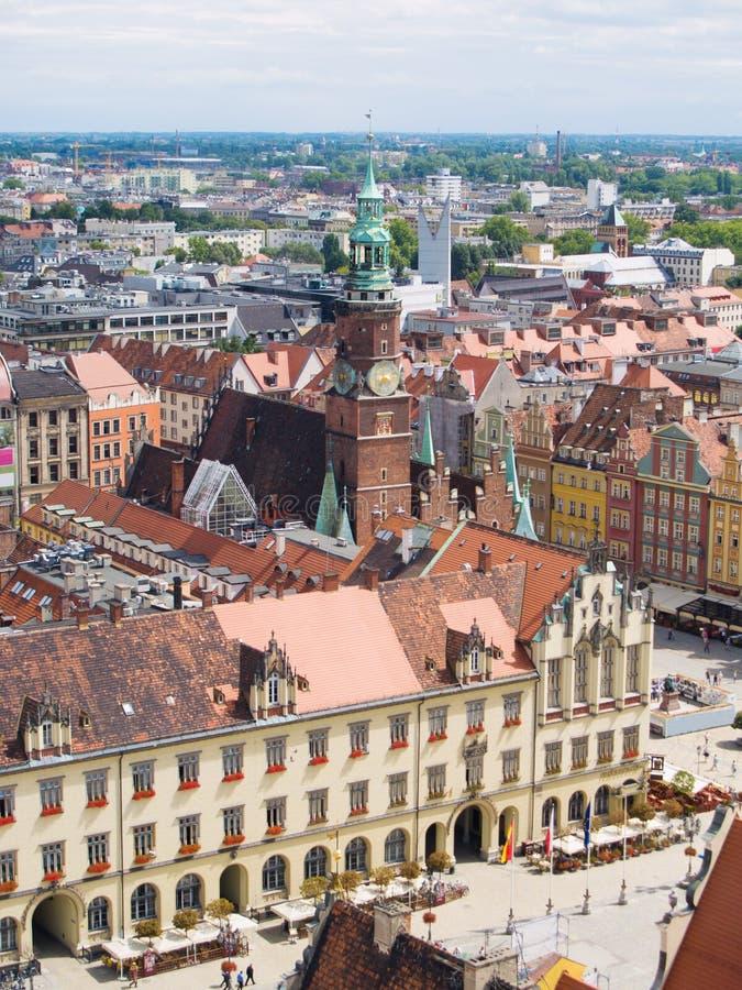 Oude stad van Wroclaw, Polen royalty-vrije stock fotografie