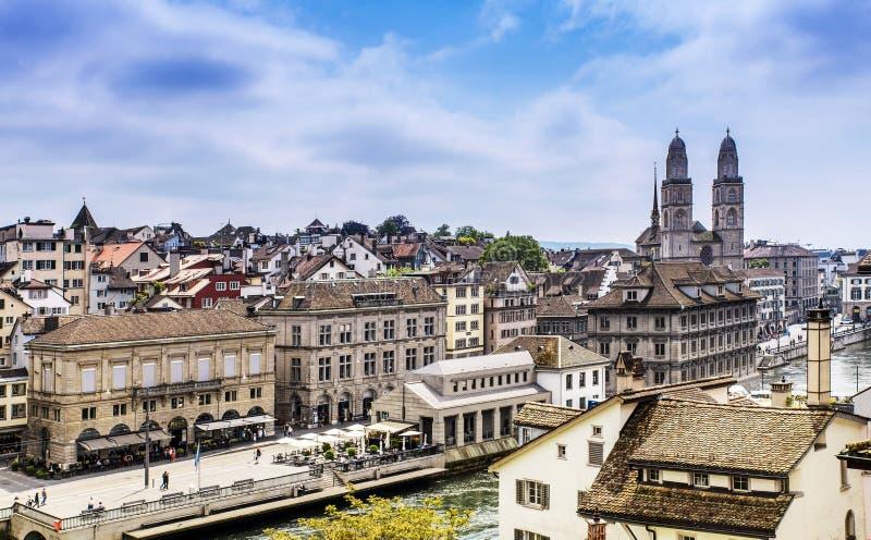 Oude stad van Zürich royalty-vrije stock fotografie