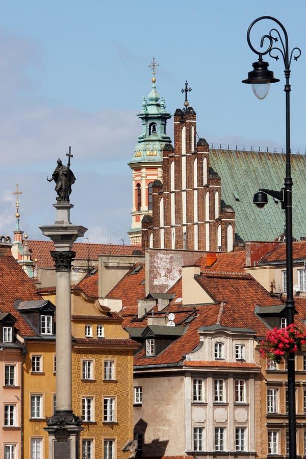 Oude Stad - Vierkant Zamkowy royalty-vrije stock afbeelding