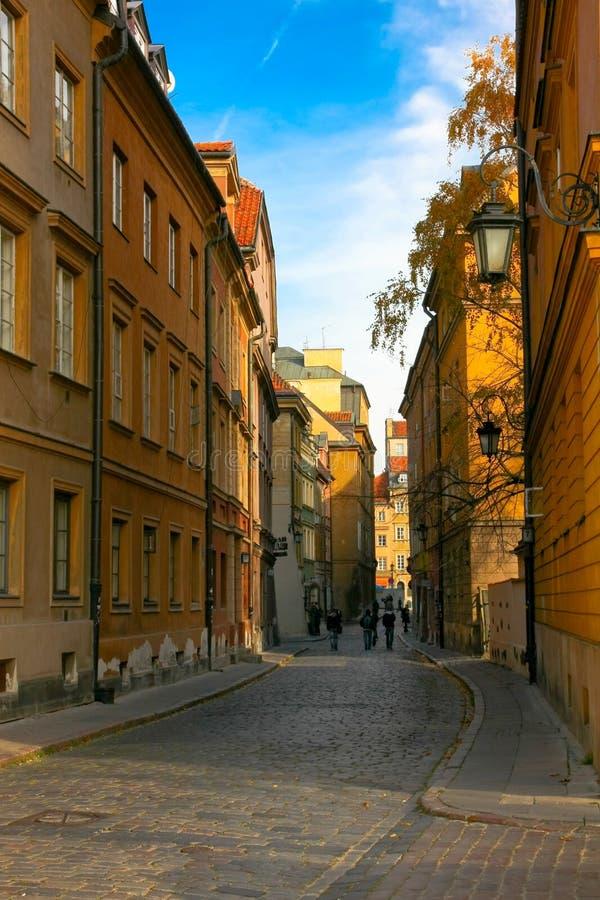 Oude Stad, Warshau, Polen royalty-vrije stock foto's