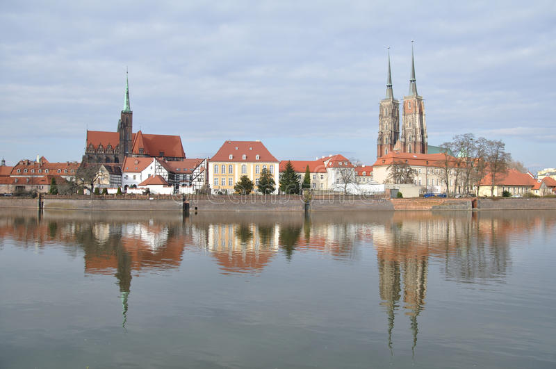 Oude stad, Wroclaw royalty-vrije stock afbeelding