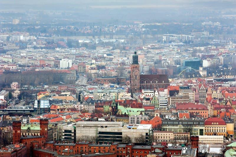 Oude stad in Wroclaw stock fotografie