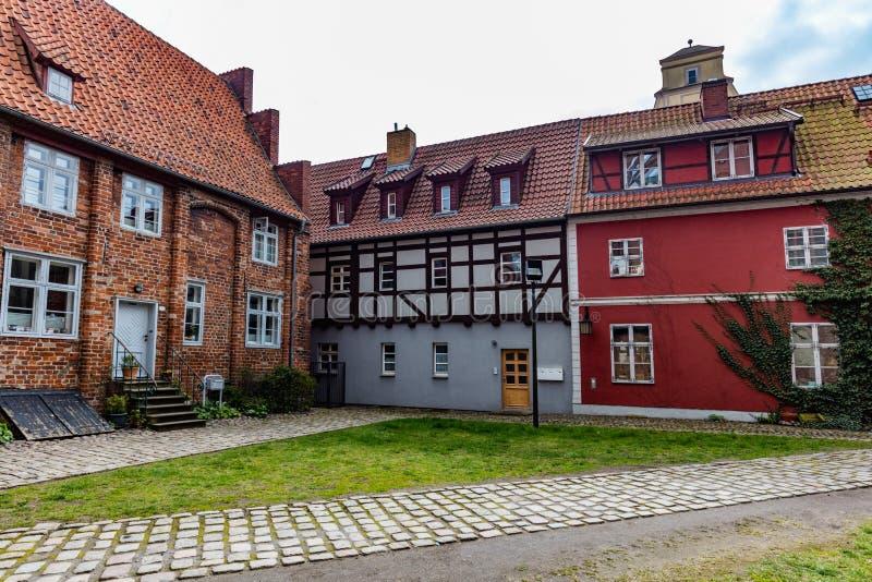Oude stadsarchitectuur van Stralsund, Duitsland royalty-vrije stock foto's