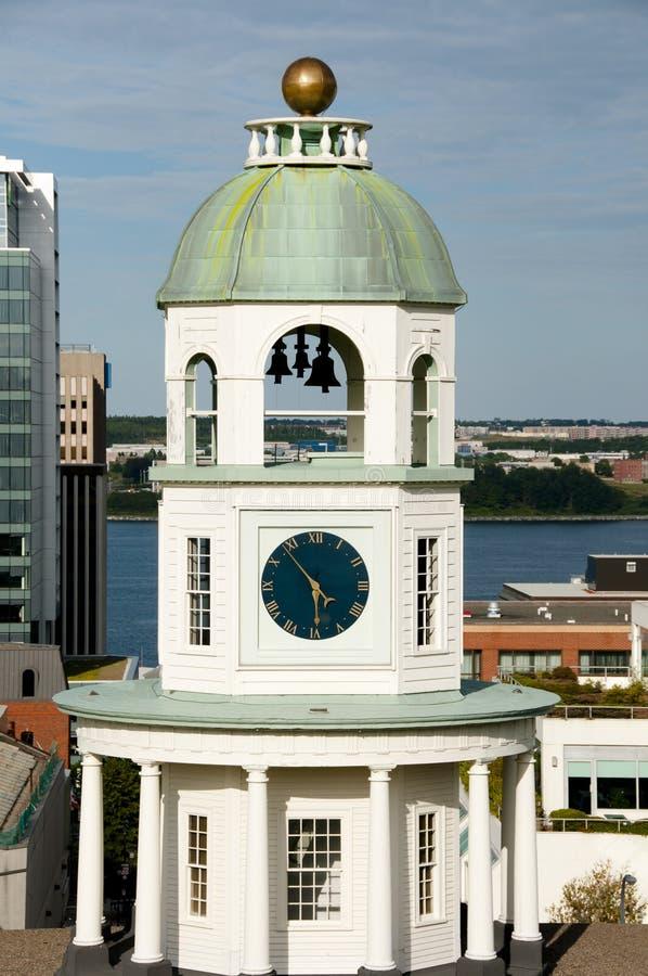 Oude Stadsklok - Halifax - Nova Scotia stock fotografie