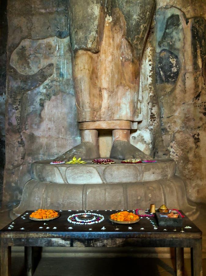 Oude Stadsruïnes in Polonnaruwa-stadstempel Sri Lanka Wereld H stock foto's
