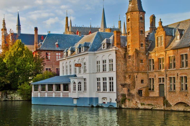 Oude Stadsscène in Brugge, België stock foto