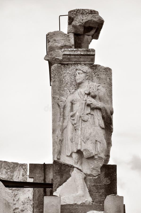 Oude standbeelden in Ephesus royalty-vrije stock foto's