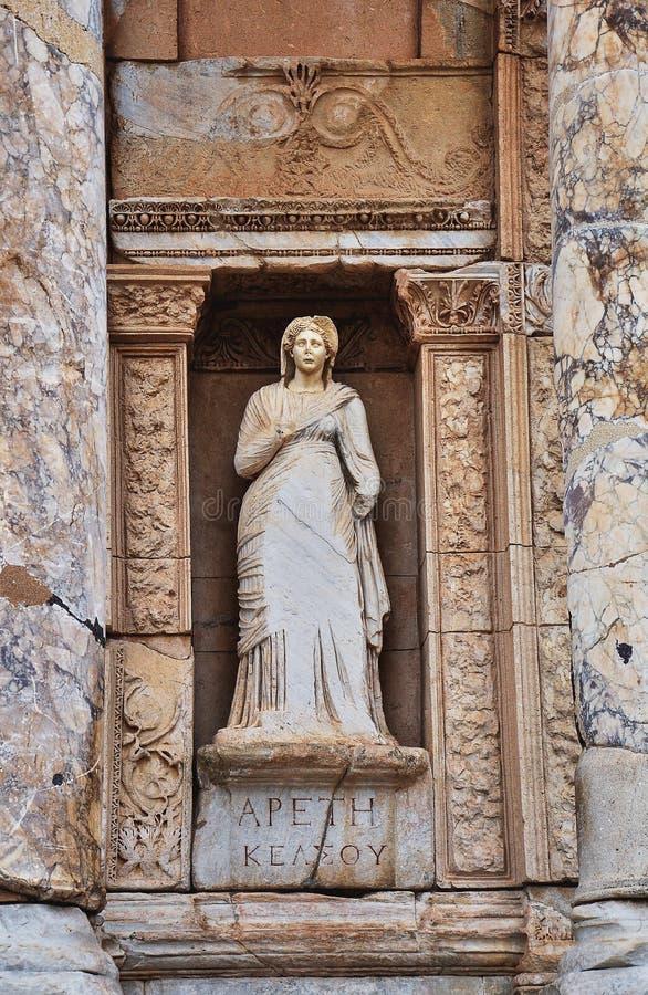 Oude standbeelden in Ephesus royalty-vrije stock afbeeldingen