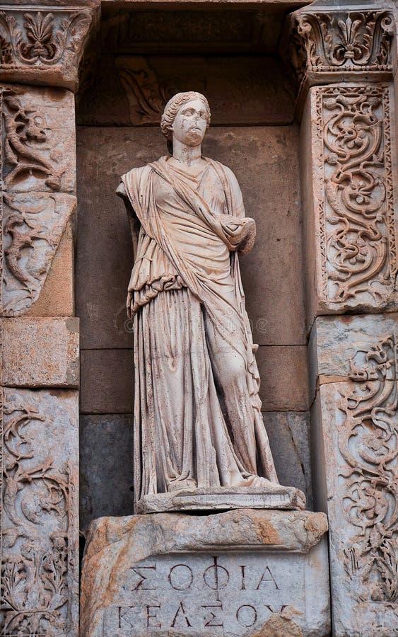 Oude standbeelden in Ephesus royalty-vrije stock fotografie
