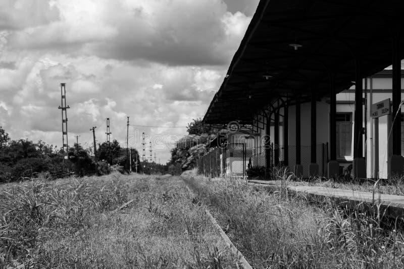 Oude stationtorrinha SP Brazilië royalty-vrije stock foto's