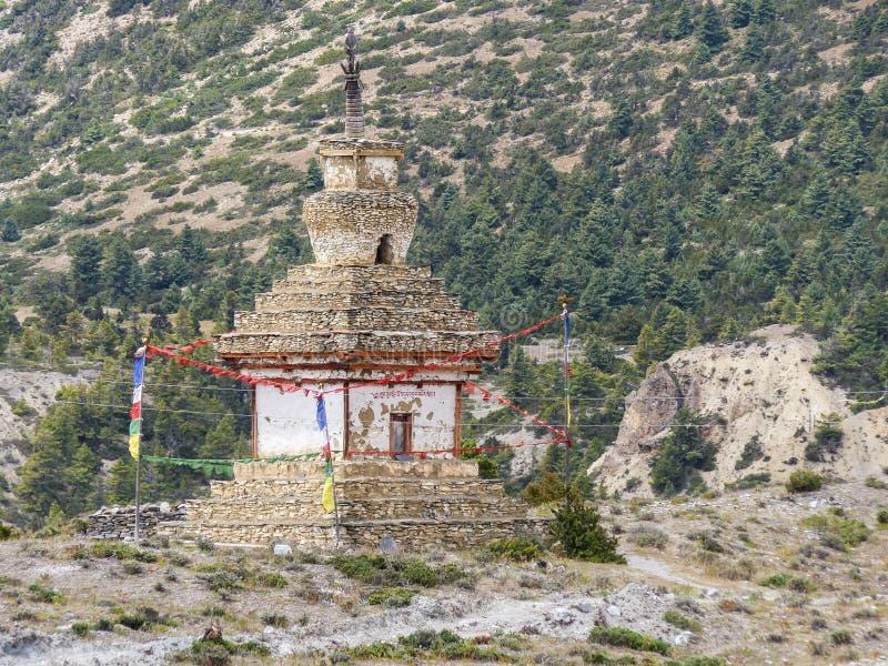 Oude Steenachtige Stupa royalty-vrije stock foto