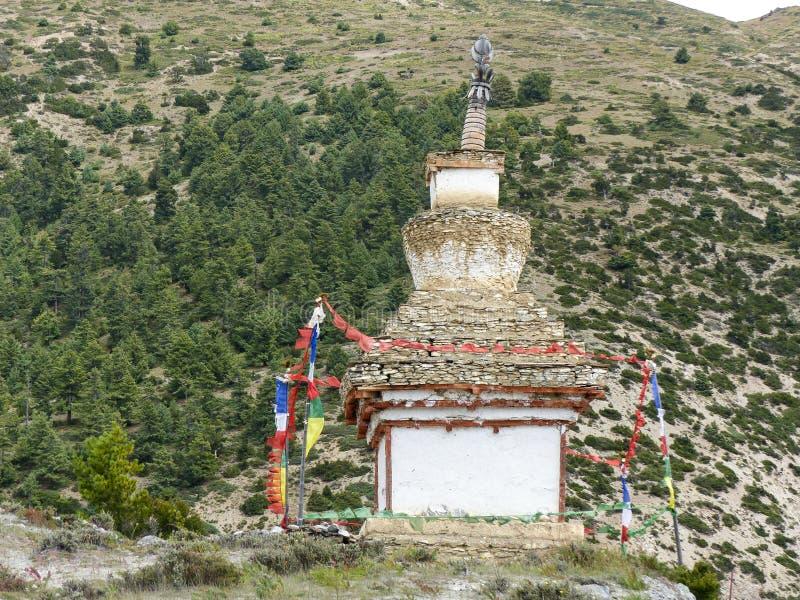 Oude Steenachtige Stupa royalty-vrije stock afbeeldingen
