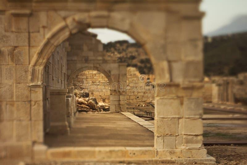Oude steenboog in Lycia stock foto's