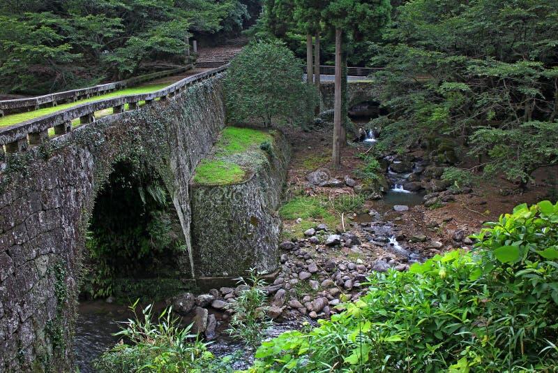 Oude steenbrug royalty-vrije stock afbeelding