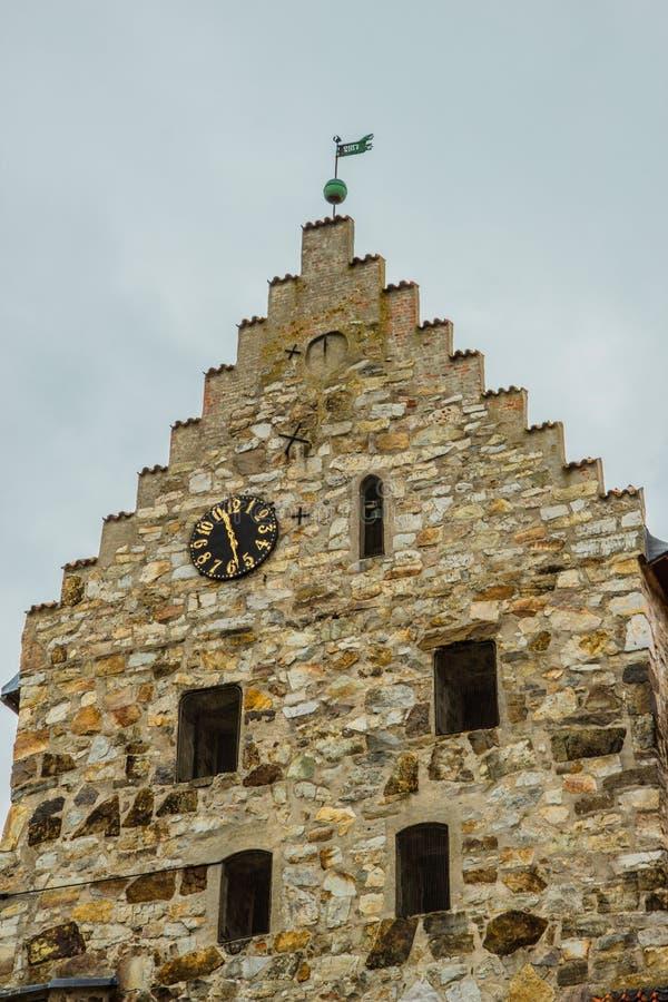 Oude steenkerk in Simrishamn, Zweden stock afbeeldingen