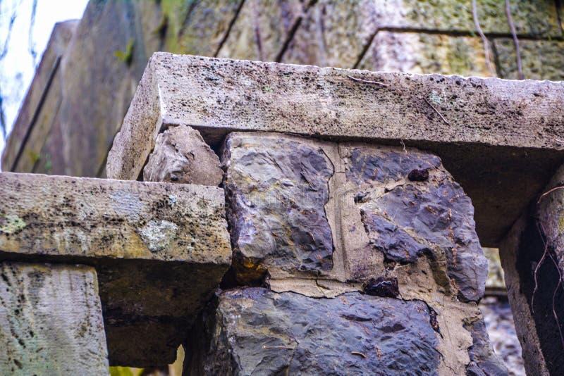 Oude steenmuur stock fotografie
