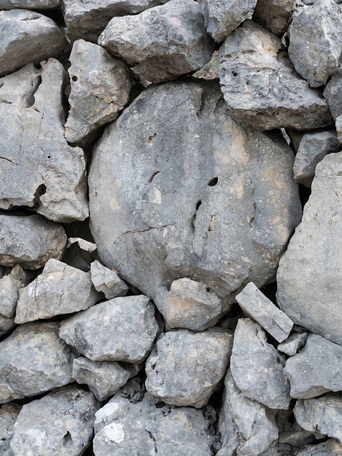 Oude steenmuur op het eiland Cres royalty-vrije stock afbeeldingen