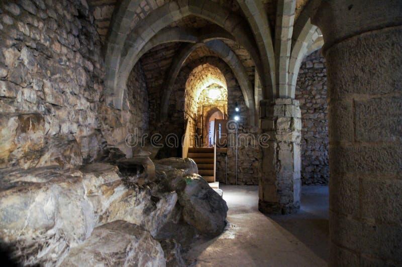 Oude stenen in het kasteel royalty-vrije stock foto's