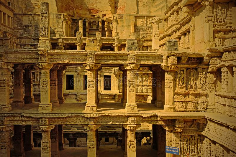 Oude stepwell in Gujarat, India stock fotografie