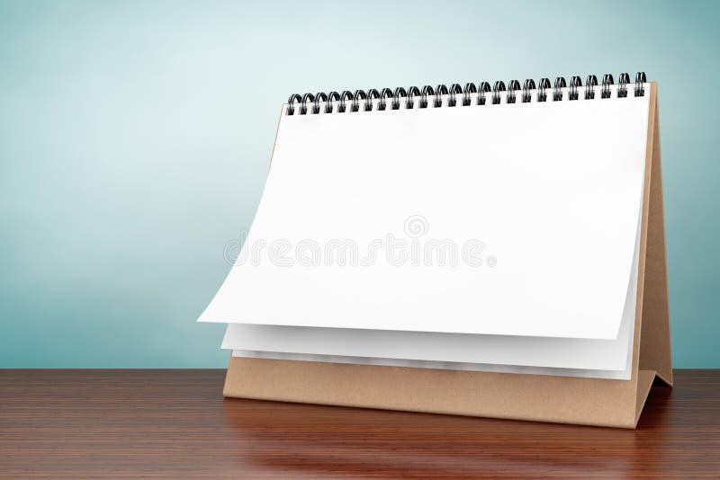 Oude stijlfoto Lege document bureau spiraalvormige kalender royalty-vrije stock afbeelding