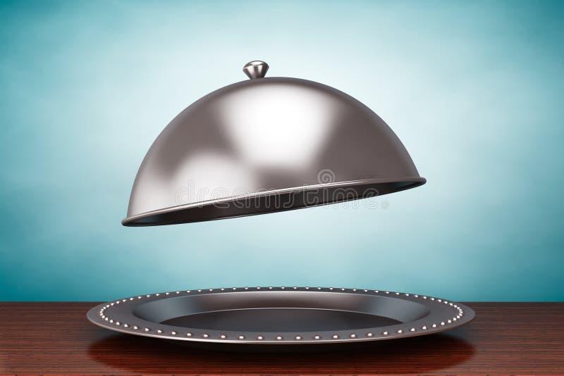 Oude stijlfoto Zilveren Restaurantglazen kap royalty-vrije stock foto