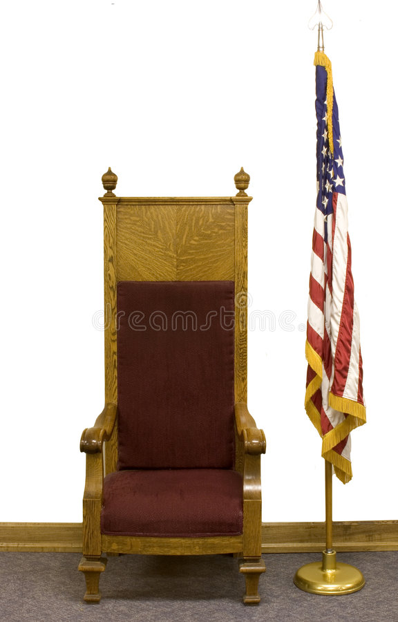 Download Oude Stoel En De Vlag Van De V.S. Stock Afbeelding - Afbeelding: 41909