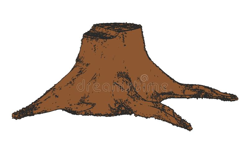 Oude stomp vector illustratie