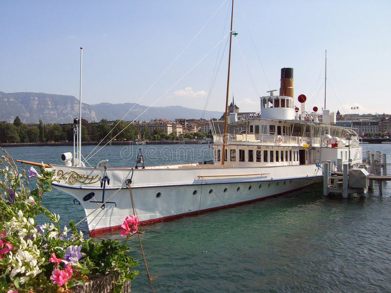 Oude Stoomboot royalty-vrije stock afbeelding